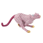 Herend Small Running Cheetah Raspberry Fishnet