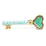 Herend Key To My Heart Figurine Green Fishnet