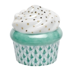 Herend Cupcake Green Fishnet