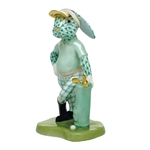 Herend Figurine Golf Bunny Rabbit Green Fishnet