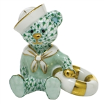 Herend Figurine Sailor Bear Green Fishnet