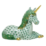 Herend Unicorn Figurine Green Fishnet