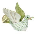 Herend Peace Dove with Branch Key Lime Fishnet