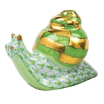 Herend Baby Snail Figurine Key Lime Fishnet