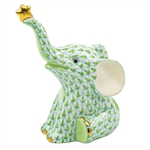 Herend Reach For The Stars Elephant Figurine Key Lime Fishnet