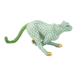 Herend Small Running Cheetah Key Lime Fishnet