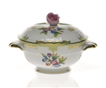 Herend Queen Victoria Covered Cup With Rose Lid