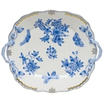 Herend Fortuna Blue Square Cake Plate