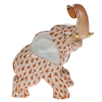 Herend Elephant Rust Fishnet