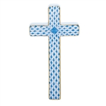 Herend Figurine Cross Blue Fishnet