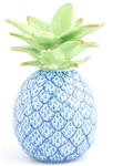 Herend Medium Pineapple Figurine Blue Fishnet