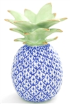 Herend Medium Pineapple Figurine Sapphire Fishnet