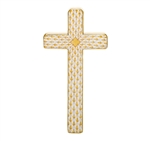 Herend Figurine Cross Butterscotch Fishnet