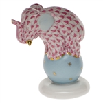 Herend Dancing Elephant Raspberry Fishnet