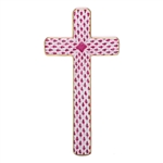 Herend Figurine Cross Pink Fishnet
