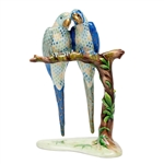 Herend Pair Of Macaws Birds Figurine Reserve Collection