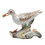 Herend Spotted Sandpiper Bird Figurine Reserve Collection