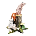 Herend Fox and Hound Figurine Reserve Collection