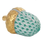 Herend Acorn Place Card Holder Green Fishnet