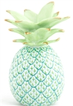 Herend Medium Pineapple Figurine Key Lime Fishnet